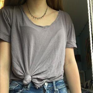 purple/ grey top